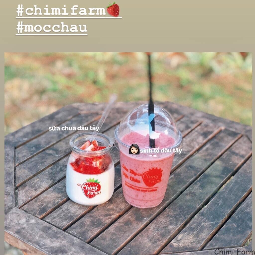 Sữa chua và sinh tố dâu tây là 2 món được yêu thích nhất tại Chimi