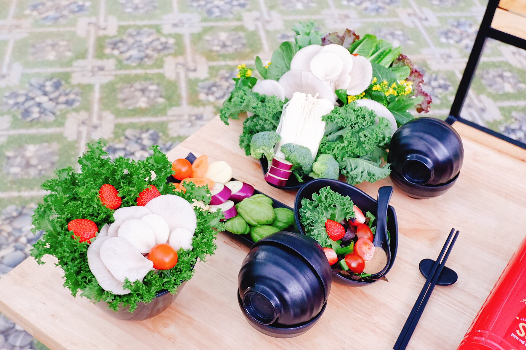Nhà hàng buffet rau củ quà sạch của Chimi farm 1