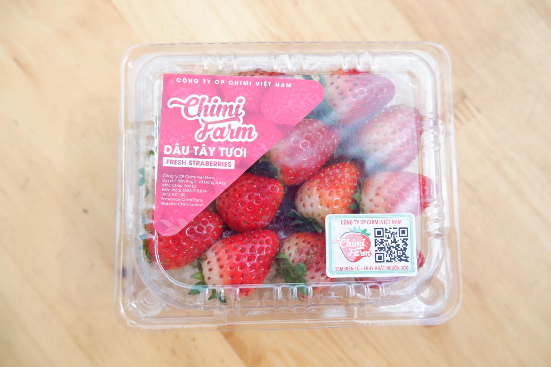 Tem dán tên thương hiệu Chimi Farm