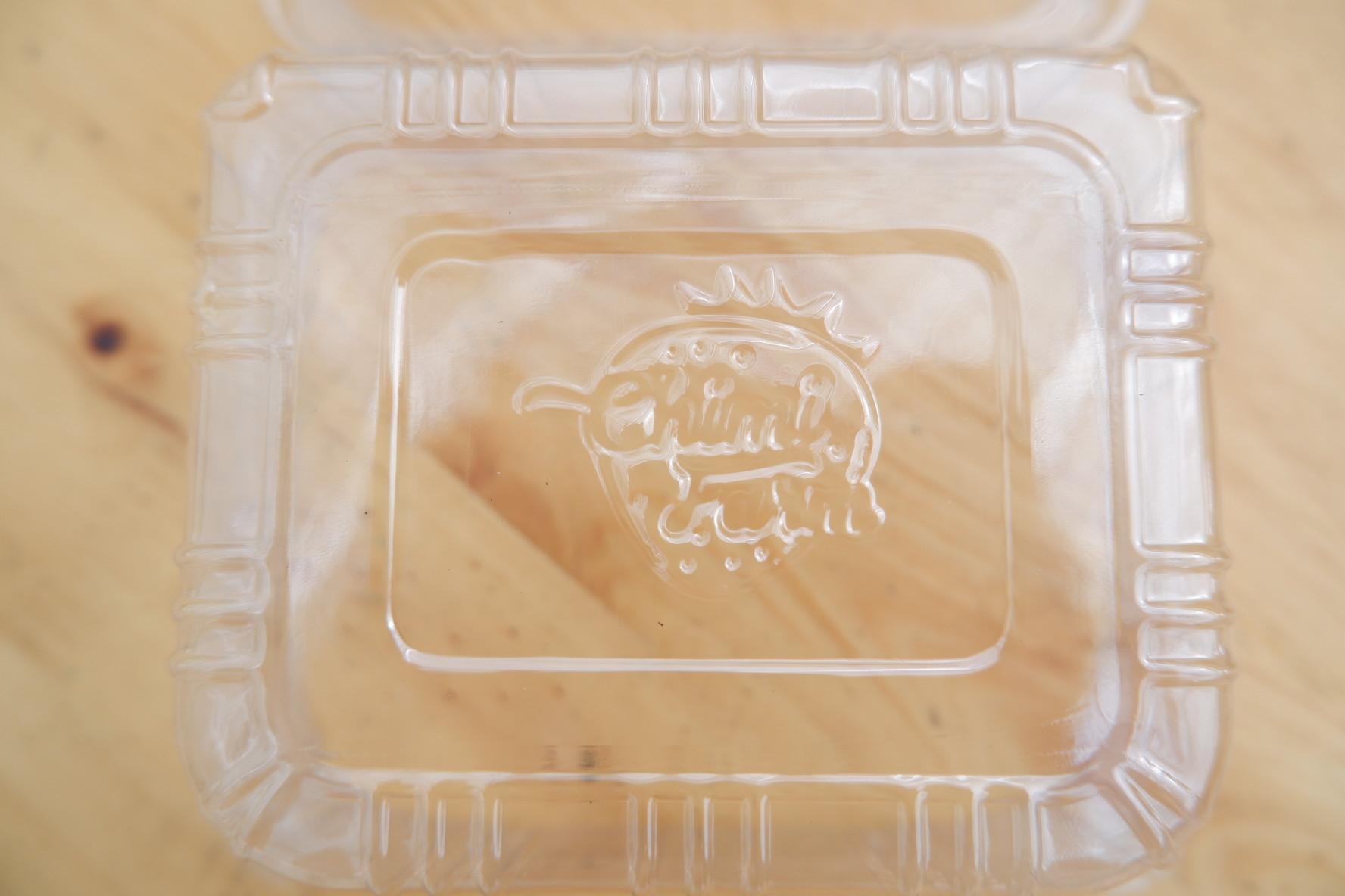 Logo in dập nổi để nhận diện thương hiệu Chimi Farm