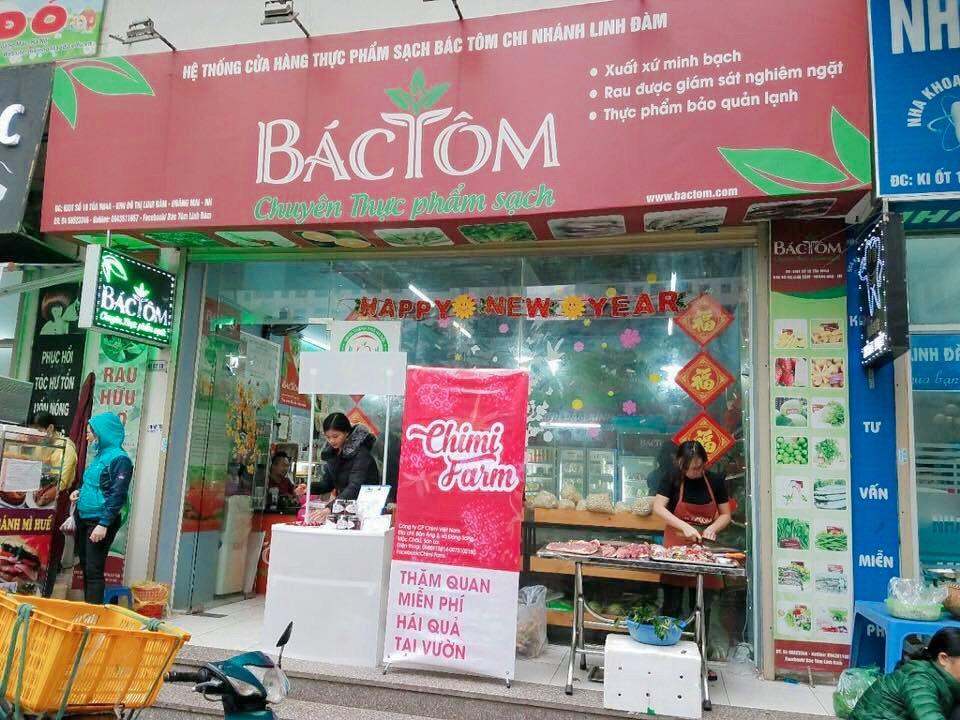 Chimi Farm là đối tác với hệ thống thực phẩm sạch Bác Tôm