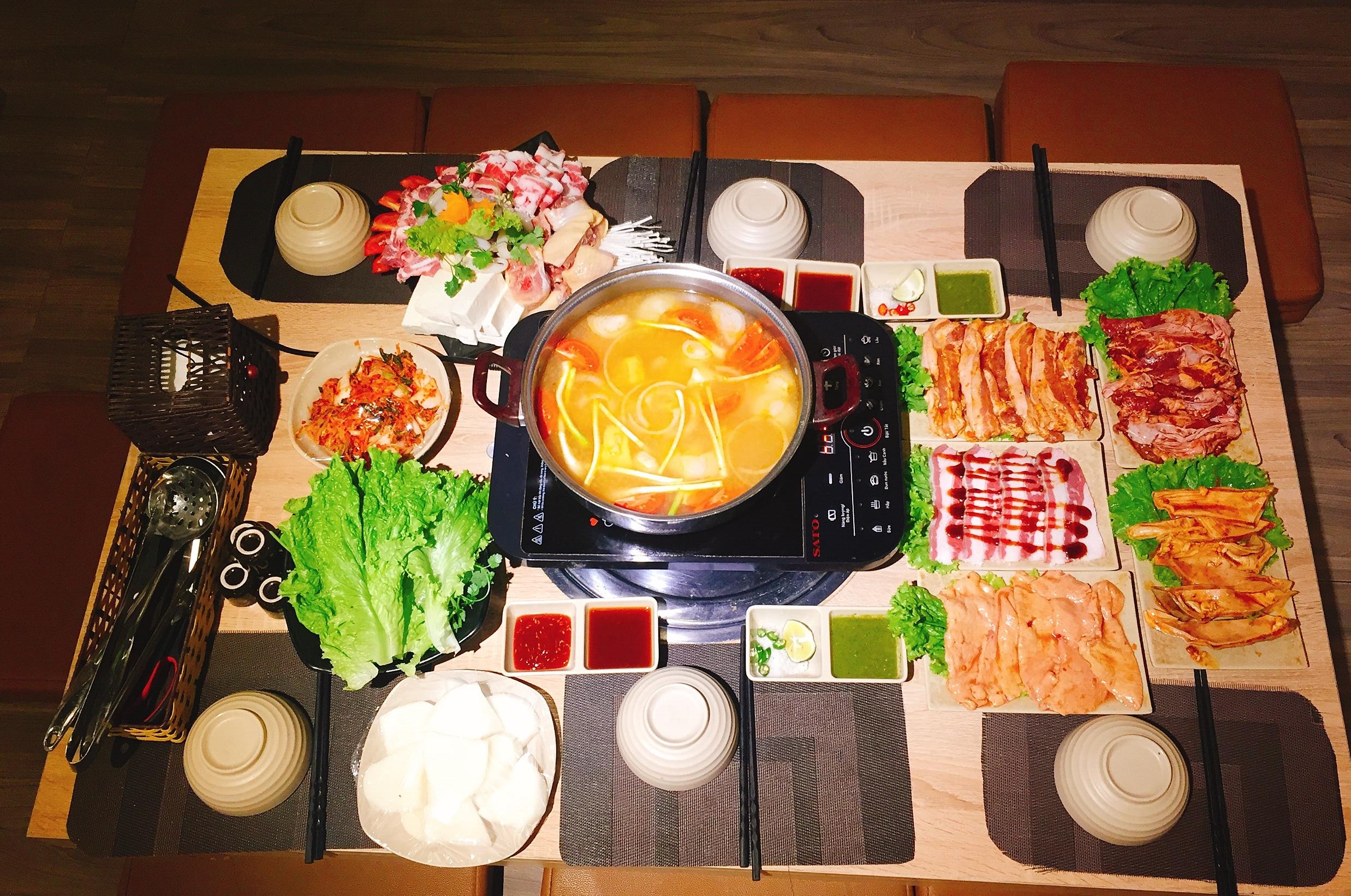 Lẩu, nướng Hàn Quốc Ken BBQ nổi tiếng tại Mộc Châu