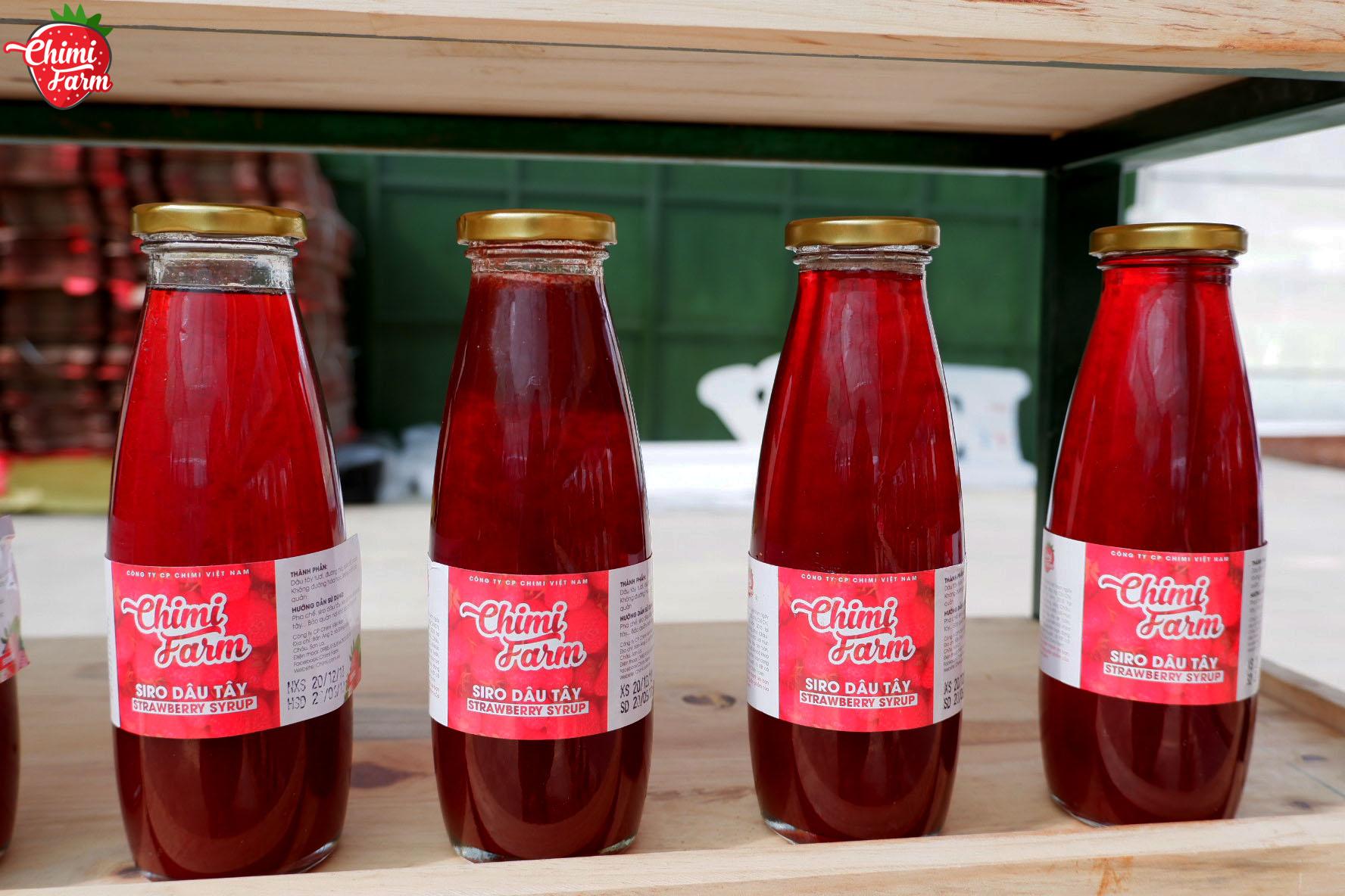 Siro dâu tây món đồ uống giải khát cho mùa hè