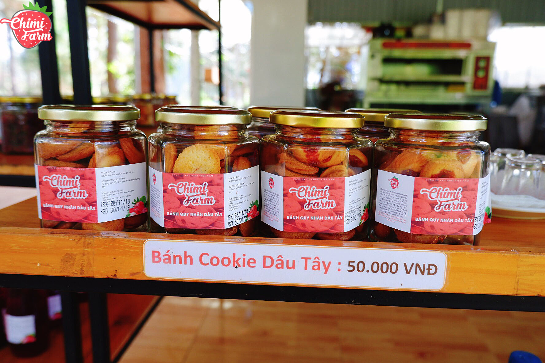 Bánh cookie dâu tây - Cách đặt mua các sản phẩm dâu tây