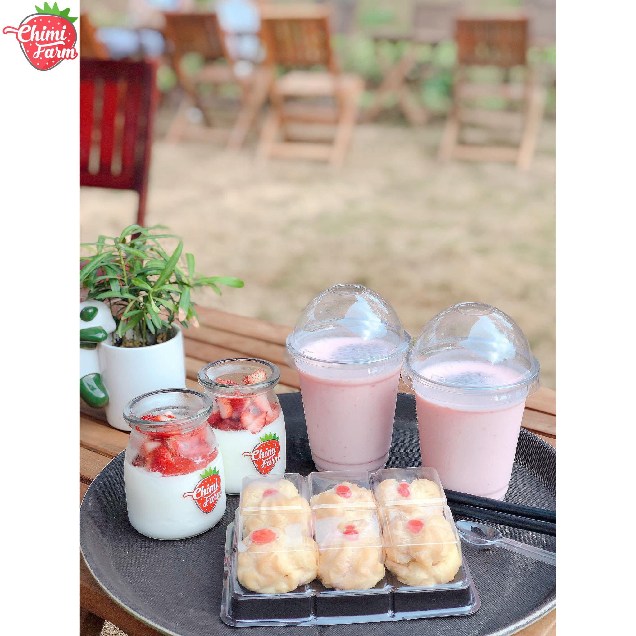 Các loại bánh dâu tây được yêu thích của Chimi Farm
