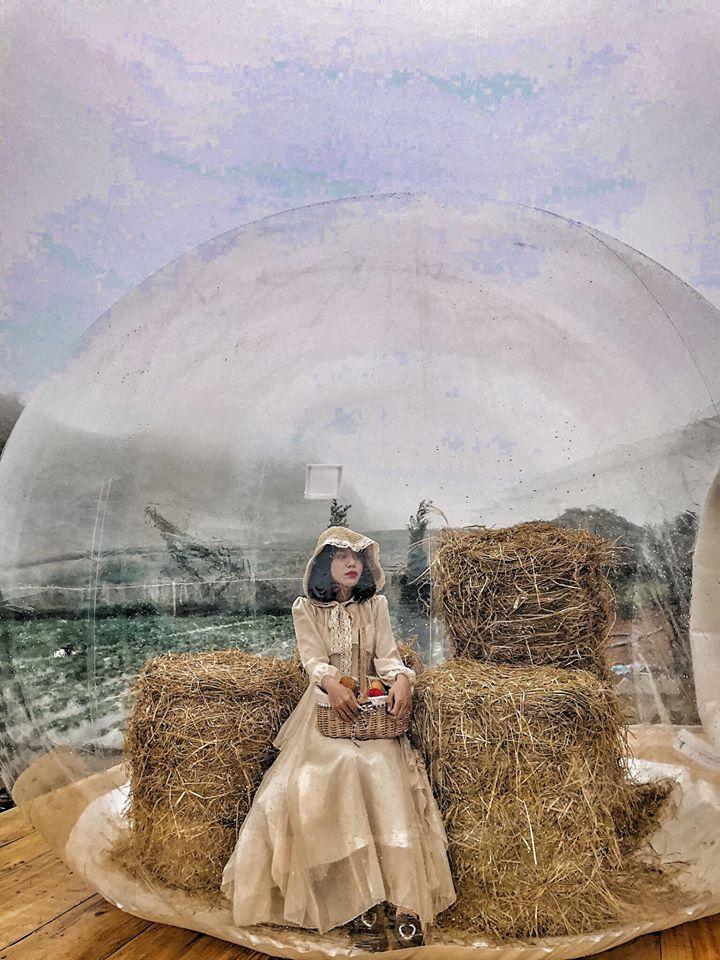 Hóa thân thành nàng công chúa trong truyện cổ tích với nhà bóng Bali Mộc Châu