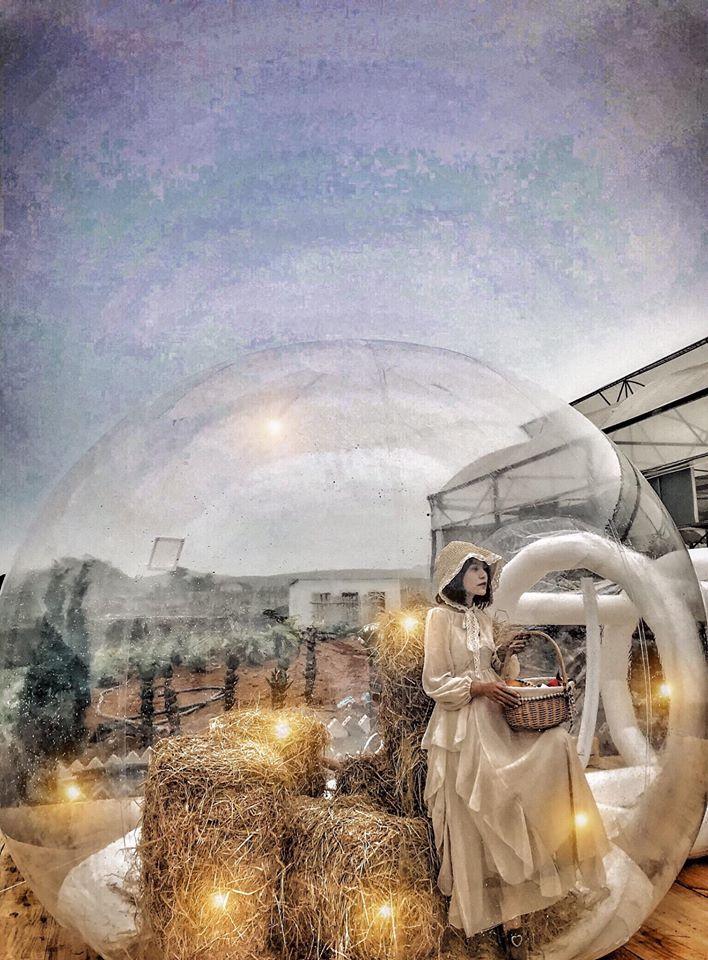 Nhà bong bóng Bali đúng là địa điểm sống ảo mới đang sốt tại Mộc Châu thời gian qua