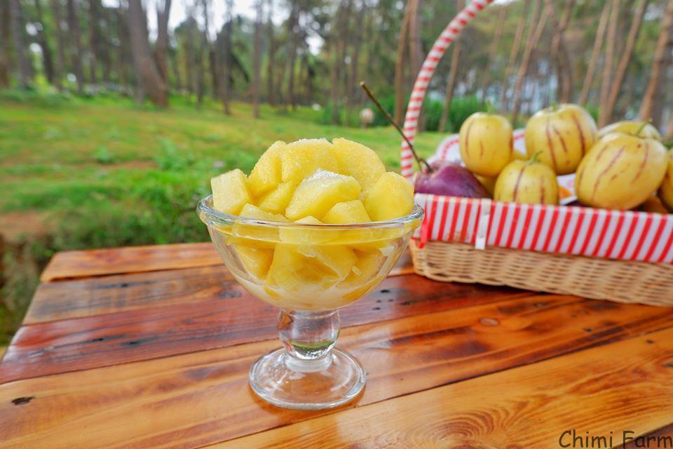 Dưa pepino dầm đường và sữa đặc của Chimi Farm