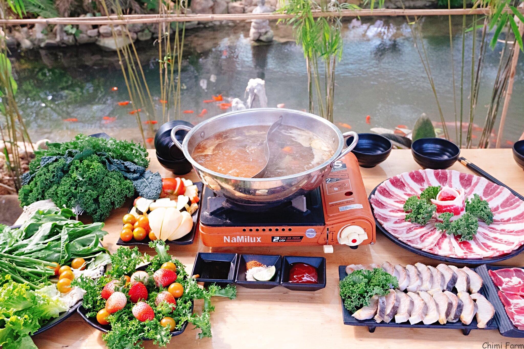 Buffet rau của nhà hàng Chimi - Hướng dẫn đường đi đến Chimi Farm 1