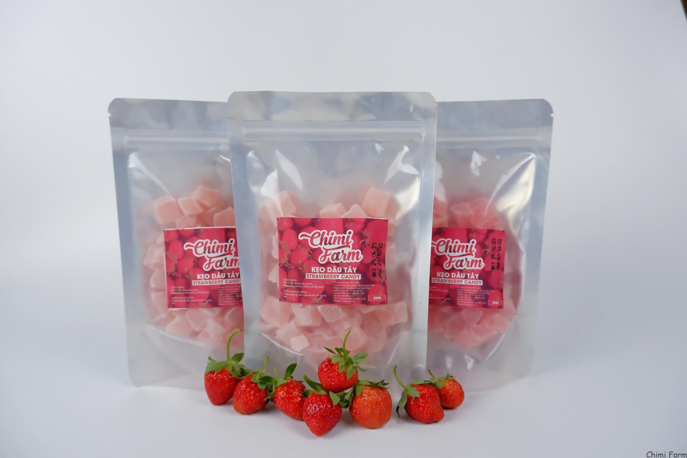 Kẹo dẻo dâu tây - Cách đặt mua các sản phẩm dâu tây