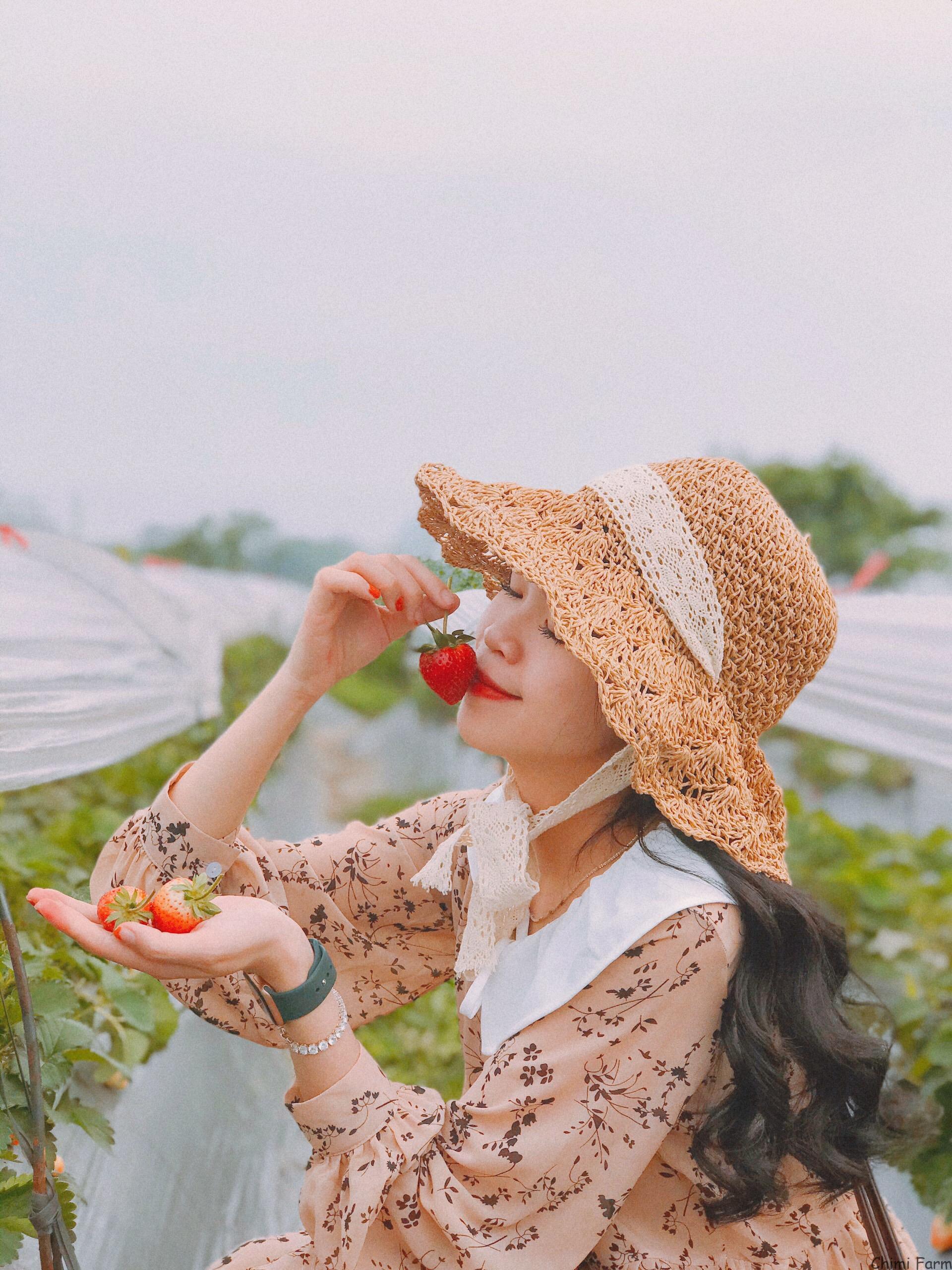 Chimi Farm 3 tại ngõ 264 Âu Cơ, Hà Nôi, bên trong vườn hoa bãi đá sông Hồng