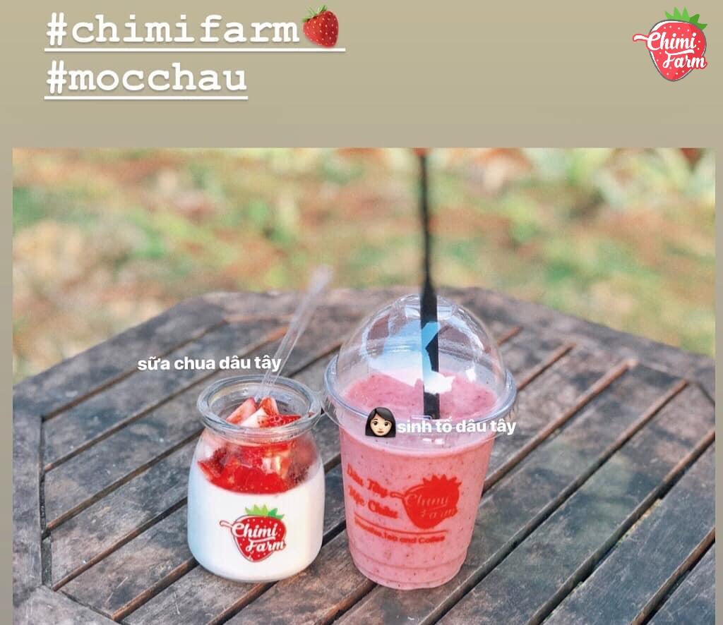 Sinh tố và sữa chua dâu tây là 02 sản phẩm được yêu thích