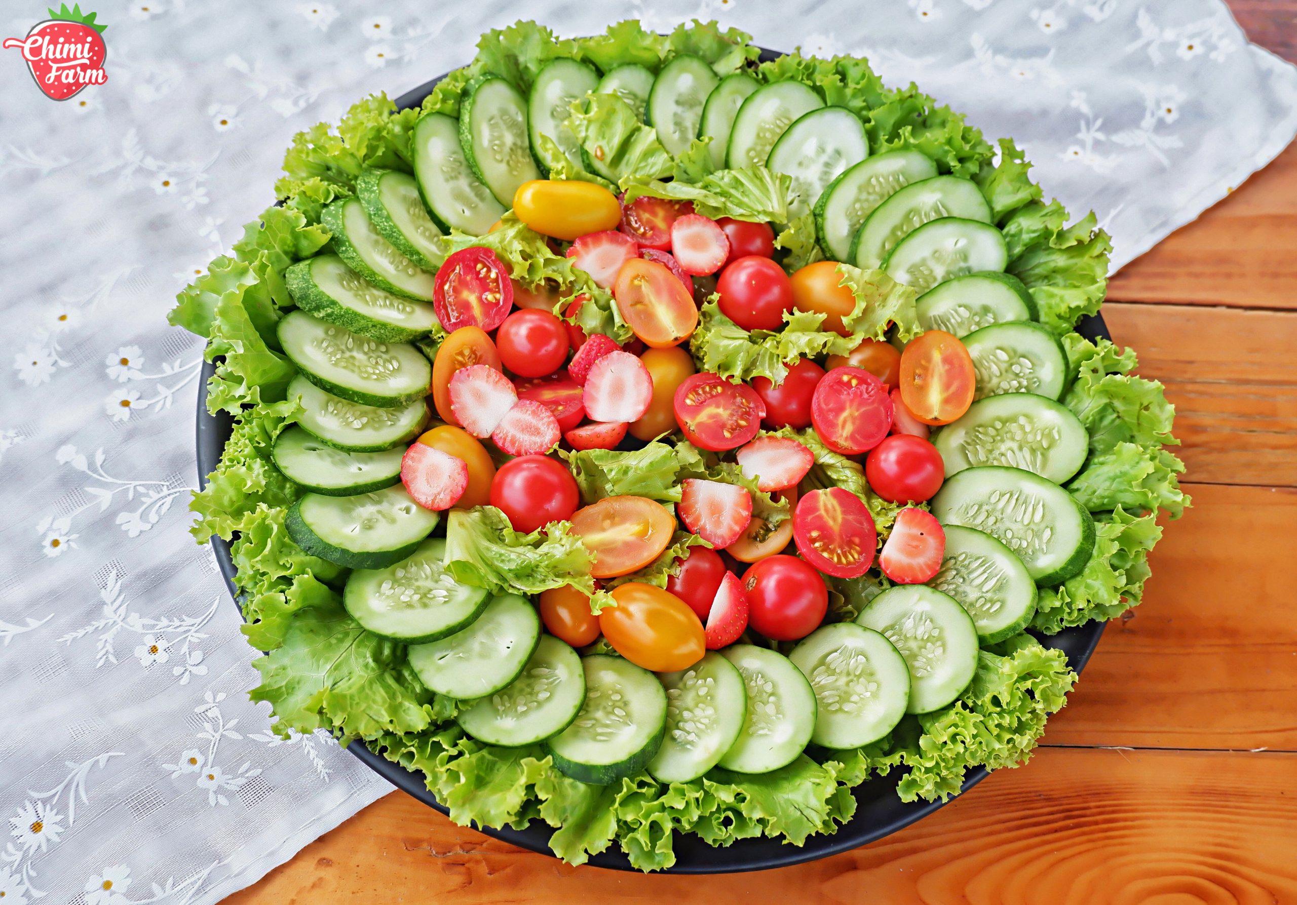 Cách làm salad cà chua cherry đơn giản cho bữa ăn thêm phong phú