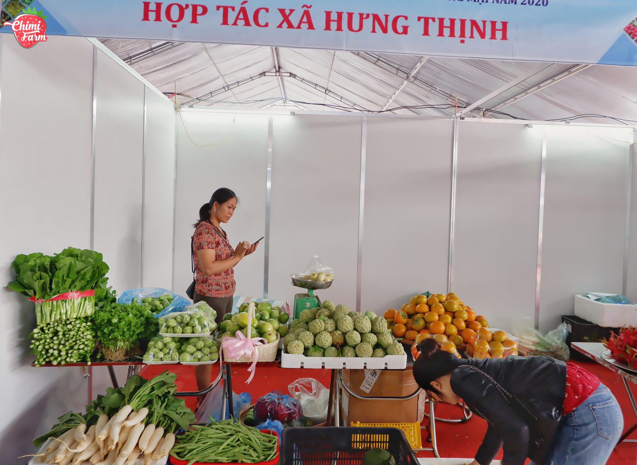 Các gian hàng nông sản chiếm phần đa tại Hội chợ lần này