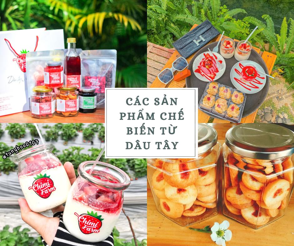 Các sản phẩm chế biến từ dâu tây của Chimi Farm